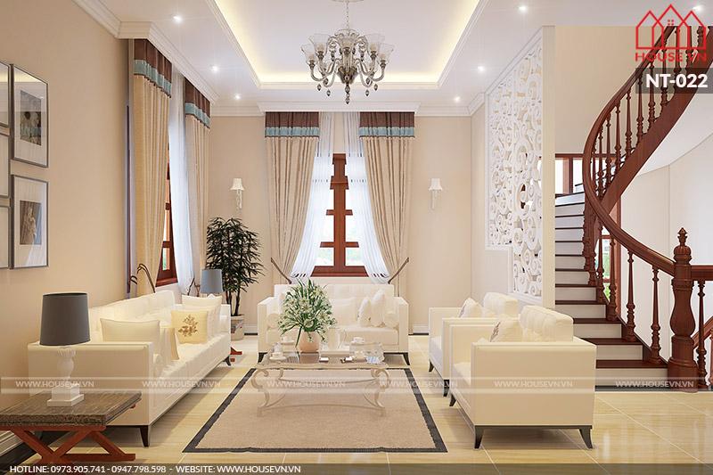 kiểu phòng khách nhà phố đẹp và sang trọng pháp