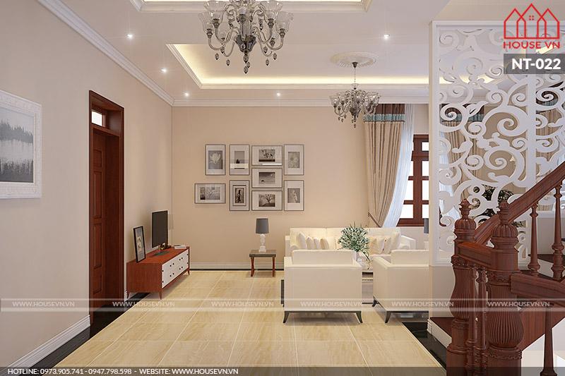 mẫu nội thất phòng khách biệt thự có thiết kế đẹp