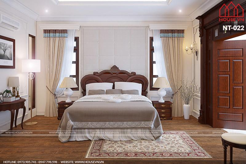 thiết kế nội thất phòng ngủ cổ điển sang trọng