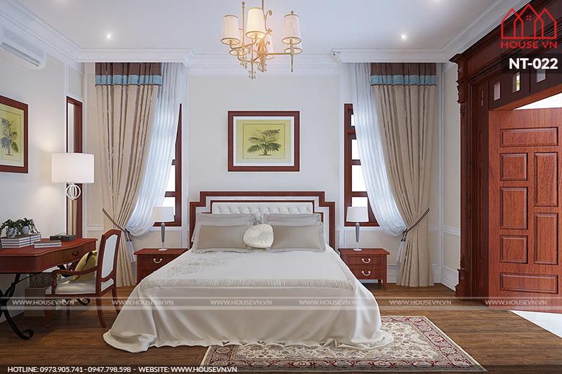 thiết kế phòng ngủ kiểu pháp cao cấp đẹp