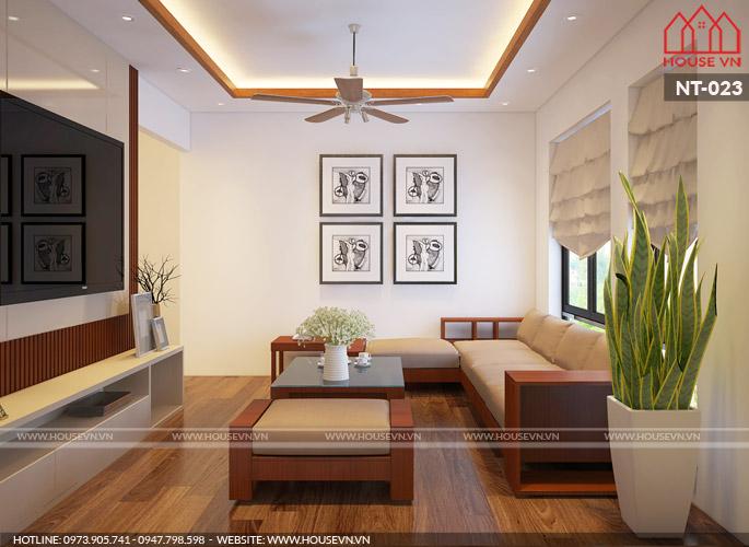 Thiết kế nội thất phòng khách đẹp đảm bảo đủ ánh sáng tạo sự thoáng đãng căn phòng.