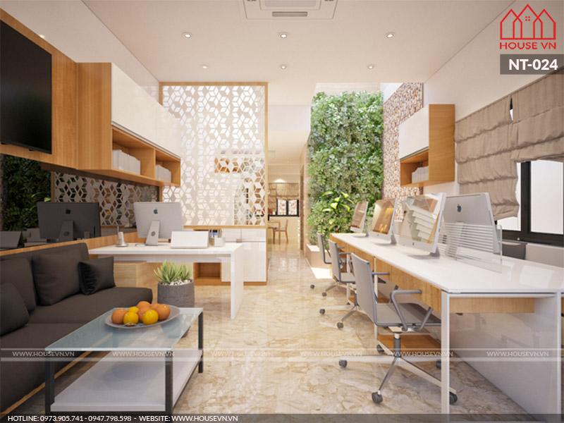 Thiết kế nội thất nhà ở kết hợp kinh doanh tại Nam Định với bài tríphong thủy tạo nên may mắncho kinh doanh.