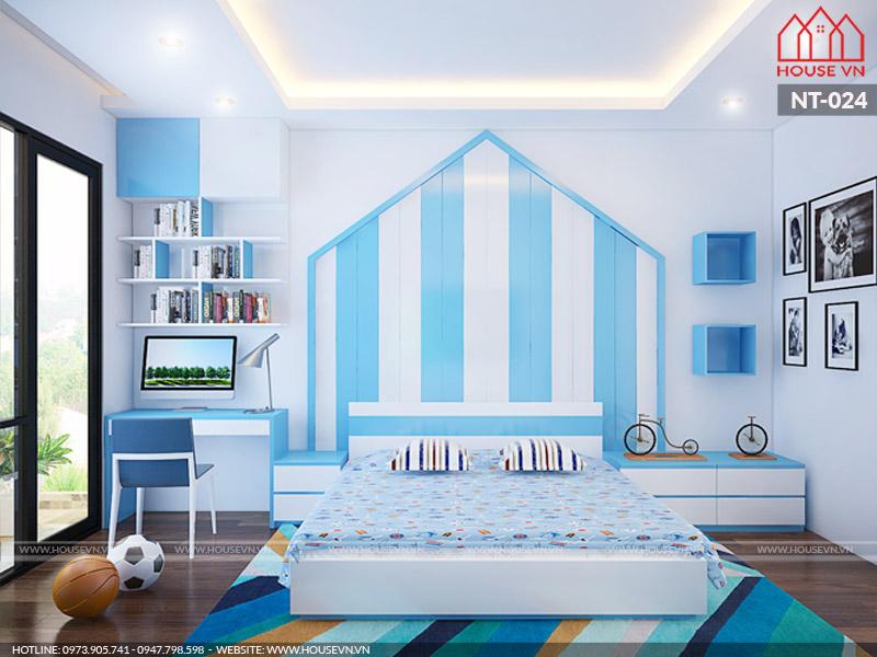 Ý tưởng thiết kế nội thất phòng ngủ bé trai hướng đến sự khỏe khoắn phù hợp với sở thích của bé