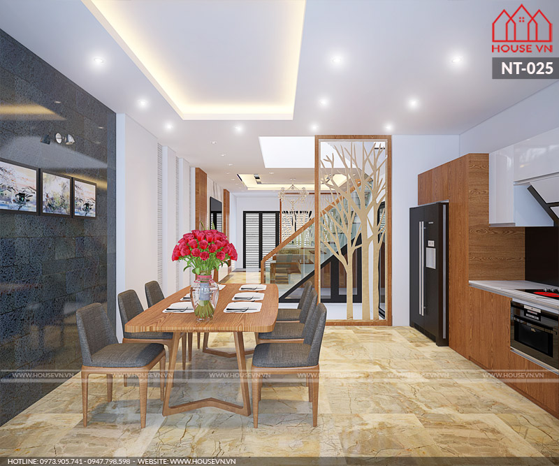 nội thất phòng ăn biệt thự hiện đại đẹp tại housevn