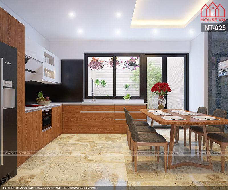 nội thất phòng bếp đẹp có diện tích nhỏ