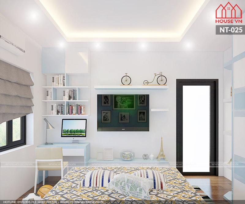 thiết kế nội thất phòng ngủ bé trai đẹp