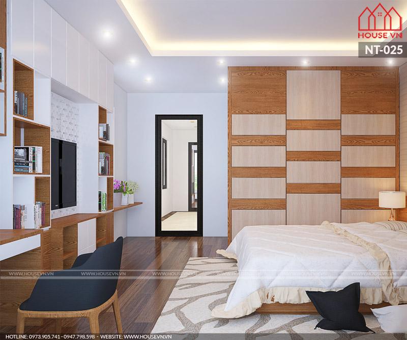 thiết kế nội thất phòng ngủ hiện đại cho biệt thự
