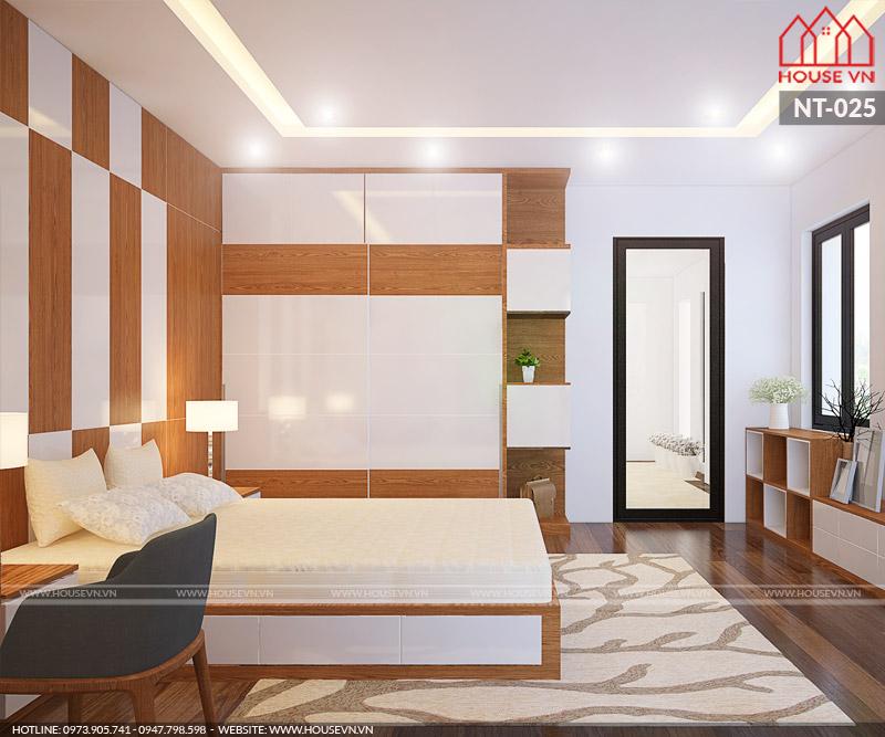 phòng ngủ hiện đại giá thành thi công rẻ
