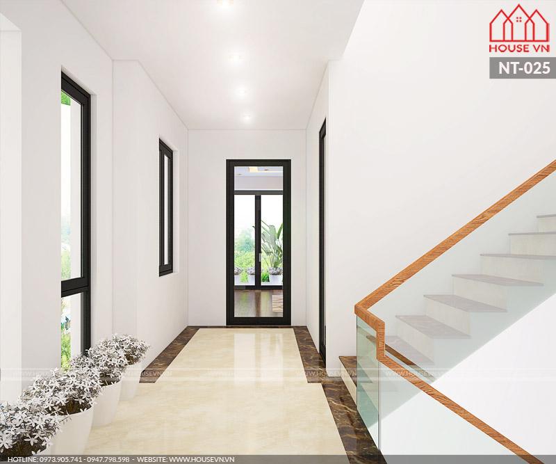 hệ thống sảnh thang của biệt thự hiện đại 3 tầng đẹp