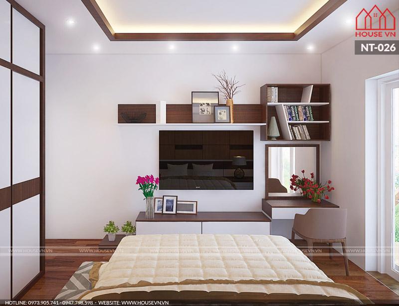 Lối bày trí và sắp xếp đồ nội thất phòng ngủ ngăn nắp và mang tính hiện đại cao