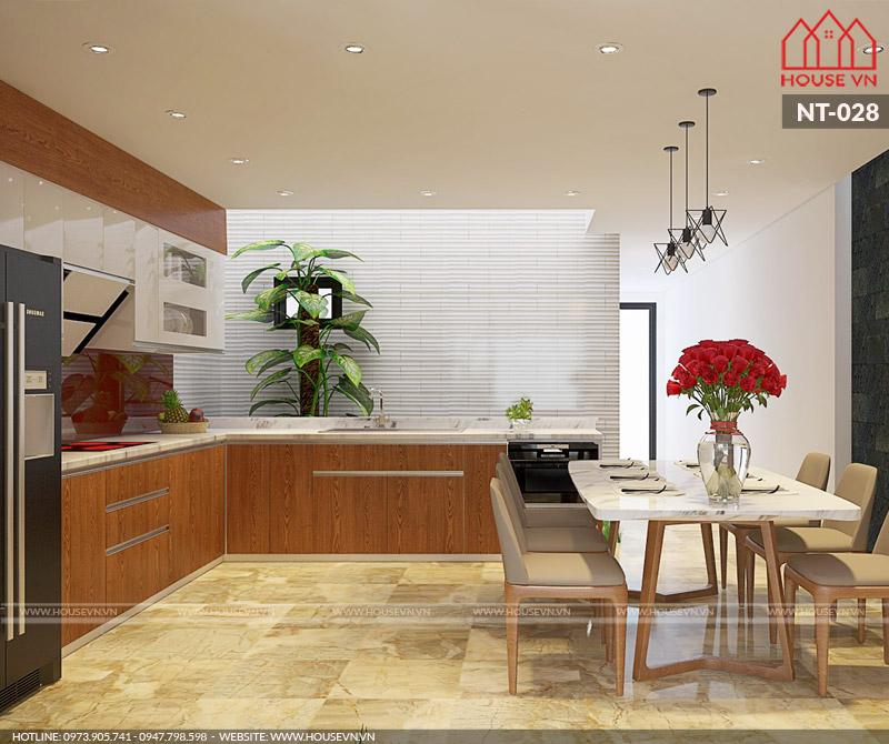thiết kế phòng bếp ăn hiện đại đẹp