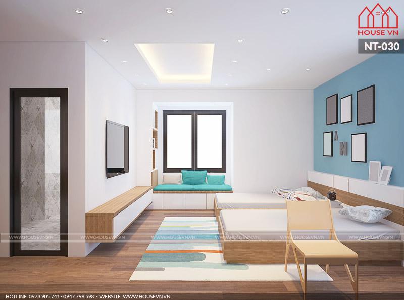 mẫu phòng ngủ hiện đại dành cho con