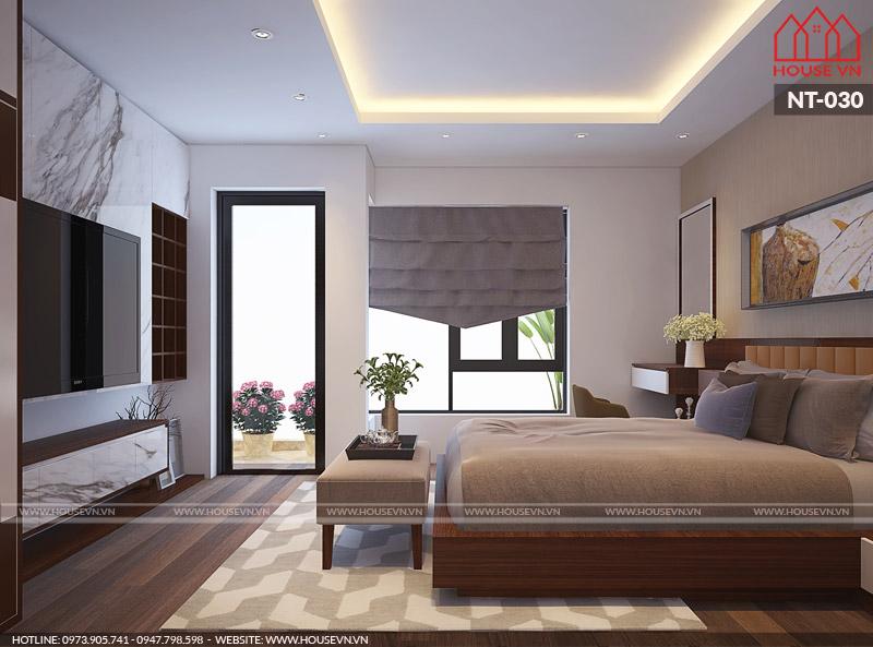 nội thất phòng ngủ vợ chồng hiện đại tiện nghi