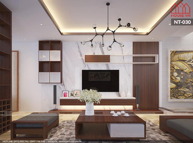 mẫu phòng khách cho chung cư đẹp hiện đại