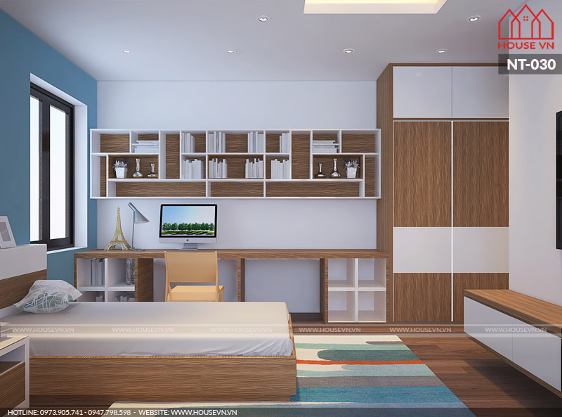 thiết kế nội thất phòng ngủ dành cho con