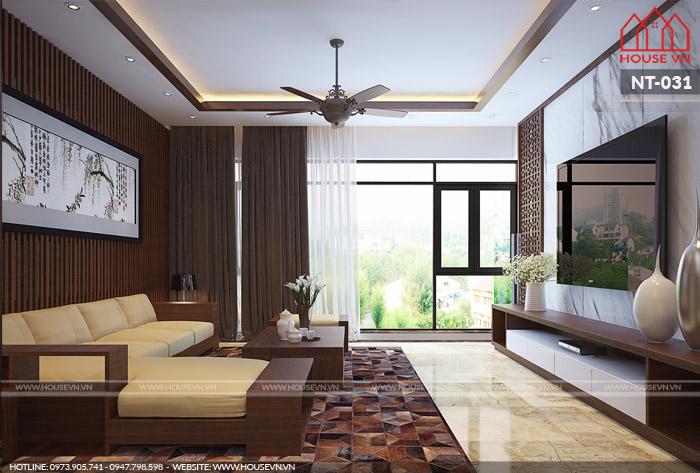 thiết kế nội thất phòng khách hiện đại đẹp cho chung cư