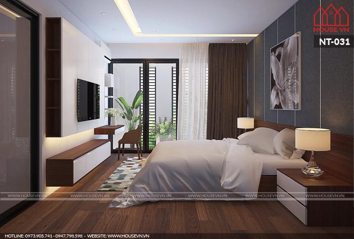 Gợi ý thiết kế nội thất phòng ngủ với gam màu nhẹ nhàng, trang nhã
