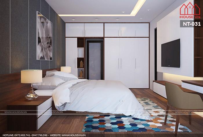 thiết kế phòng ngủ hiện đại cho hai người