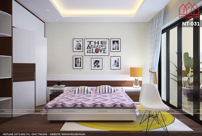 phòng ngủ dành cho hai người phong cách hiện đại