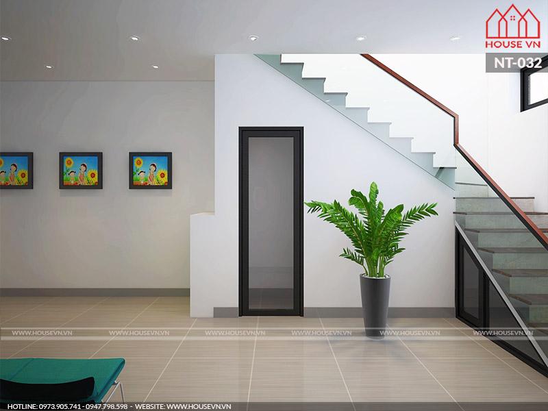 cầu thang phòng khám hiện đại tại hải phòng