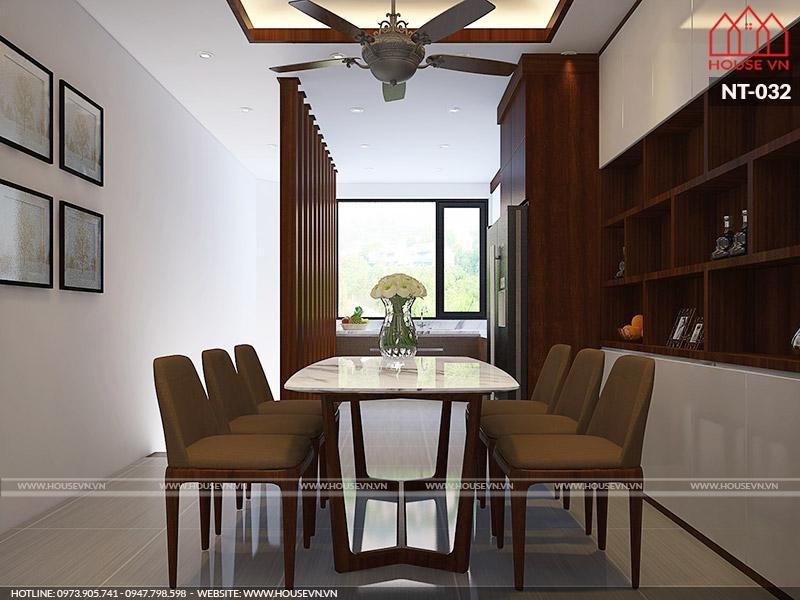 thiết kế phòng ăn hiện đại cho nhà ống tại Hải Phòng