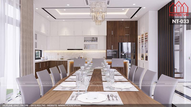 mẫu phòng ăn hiện đại đẹp cho nhà phố