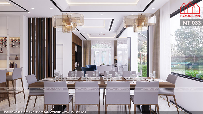 mẫu phòng ăn đẹp hiện đại dành cho nhà phố