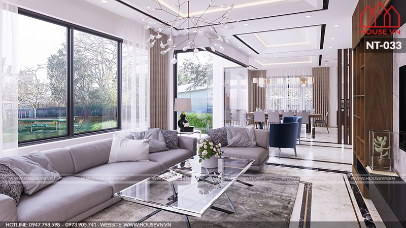 thiết kế nội thất phòng khách 18m2 đẹp nhất