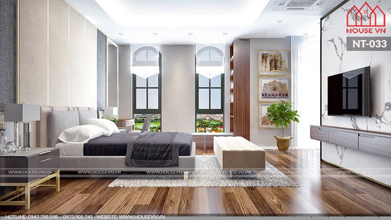 thiết kế nội thất phòng ngủ vợ chồng gia chủ