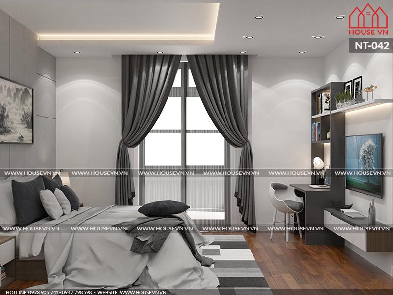 Bài trí nội thất phòng ngủ con trai hợp hướng cửa sổ nhằm tận dụng ánh sáng tự nhiên cho sinh hoạt