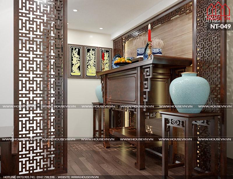 Gợi ý phương án thiết kế và bày trí nội thất phòng thờ trang nghiêm