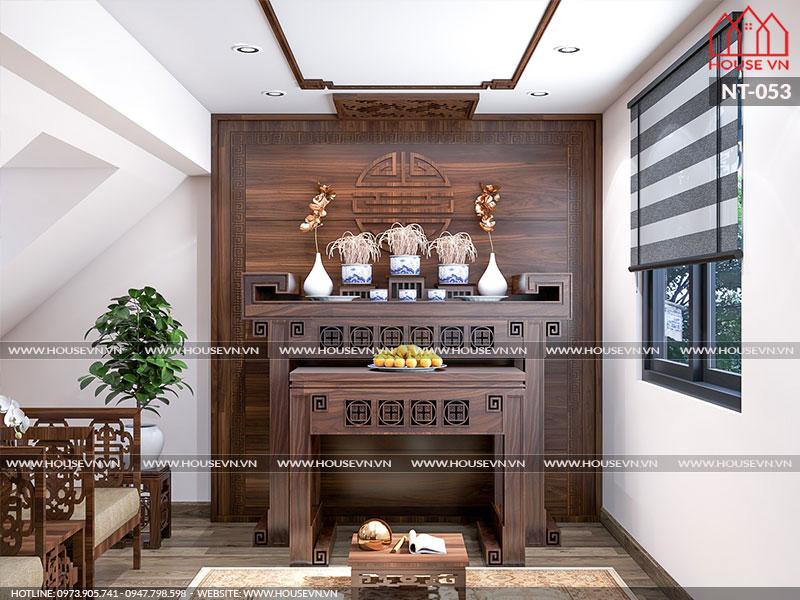 Gợi ý thiết kế nội thất phòng thờ đẹp năm 2020