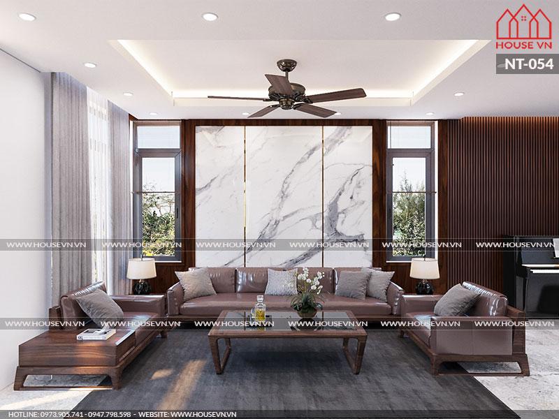 Không gian phòng khách được sắp xếp khoa học, logic cùng gam màu trang nhã đúng theo chủ đầu tư yêu cầu.