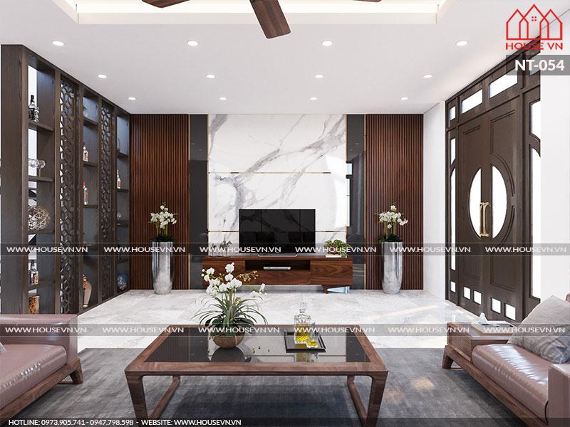 Không gian phòng khách sang trọng, đẳng cấp khiến mọi vị khách tới chơi nhà đều hài lòng, thích thú.