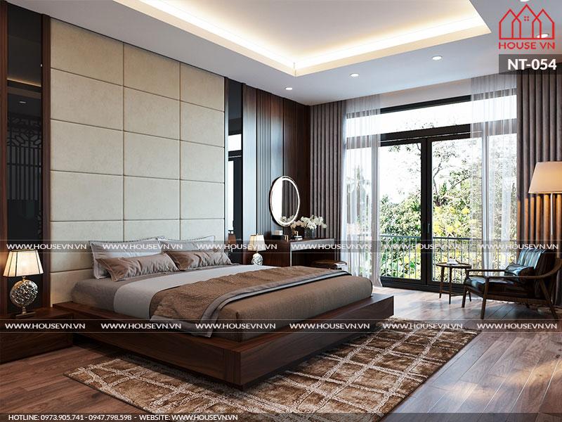 Không gian phòng ngủ được thiết kế đẹp tinh tế, sang trọng