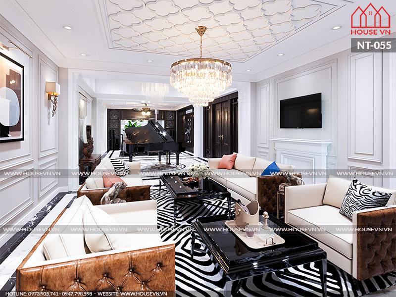 Chiêm ngưỡng mẫu thiết kế nội thất phòng kháchđẹp đẳng cấp