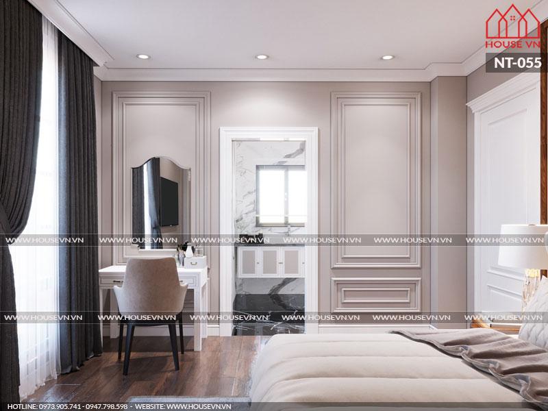 Đồ nội thất trong căn phòng ngủ được thiết kế khá tinh tế.