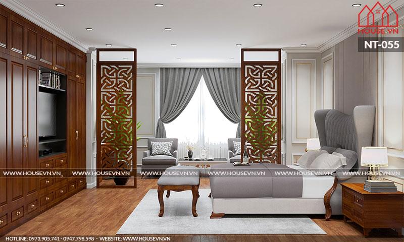 Phòng ngủ được thiết kế có cửa sổ đặt ở vị trí hợp lý giúp lấy gió lấy sáng tốt nhất.