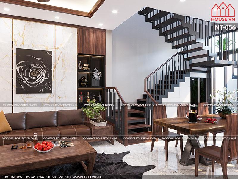 Đồ nội thất hiện đại cùng cách bày trí đơn giản mà thuận tiện, căn phòng khách thực sự thể hiện đúng ý nguyện của gia chủ