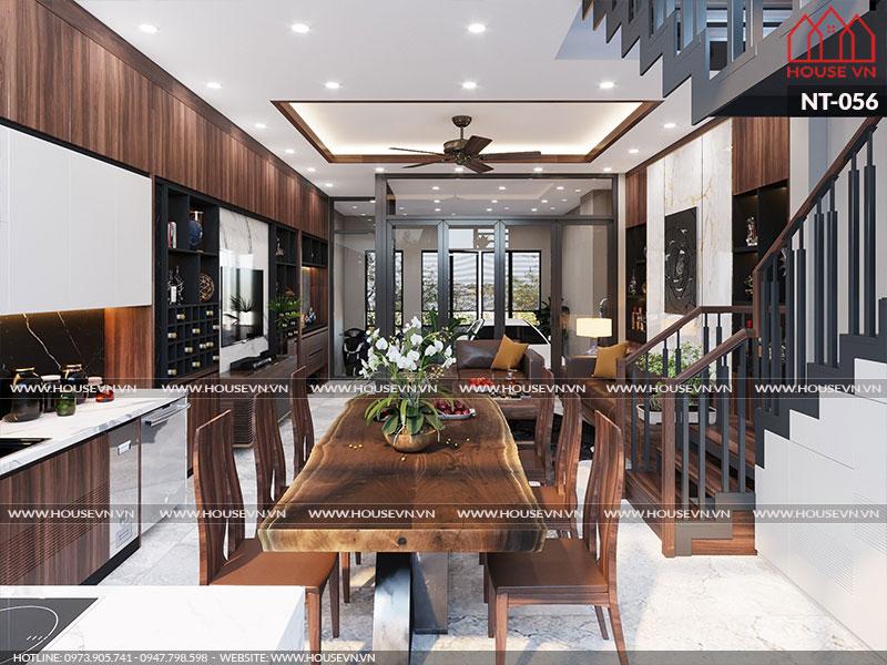 Ý tưởng thiết kế nội thất phòng bếp ăn hiện đại tiện nghi và ấm cúng