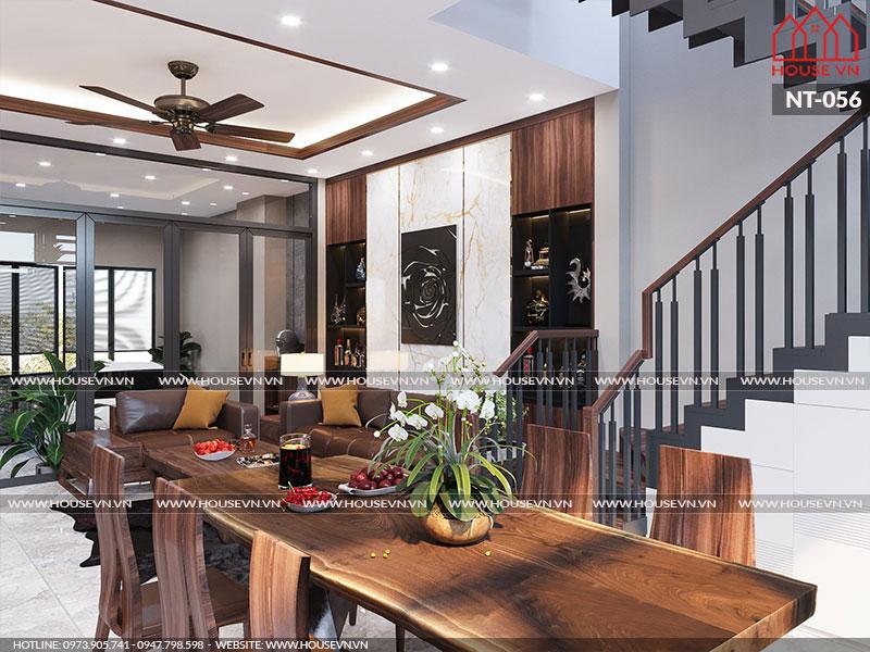 Ý tưởng thiết kế nội thất phòng bếp ăn hiện đại tiện nghi và ấm cúng.
