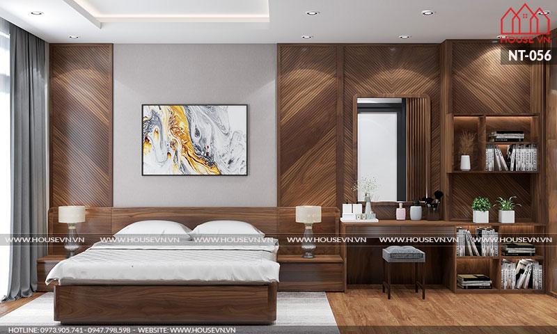 Vẻ đẹp đầy tính hiện đại và hợp thời của căn phòng ngủ này thực sự thuyết phục chủ nhân căn phòng