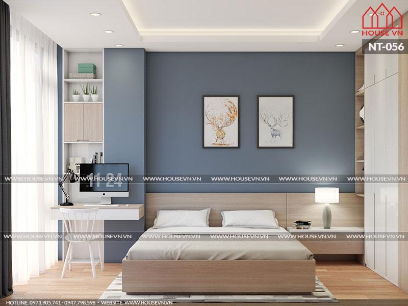 Cách bày trí nội thất căn phòng ngủ hết sức ấn tượng phù hợp với phong cách nội thất hiện nay