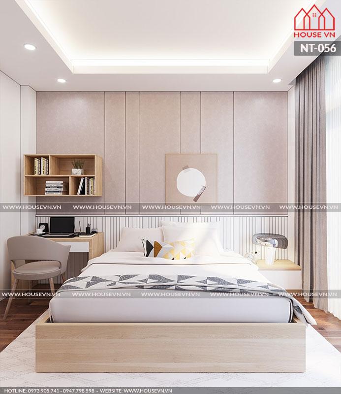 Không gian mẫu phòng ngủ thoáng đãng cân gió cân sáng hợp lý