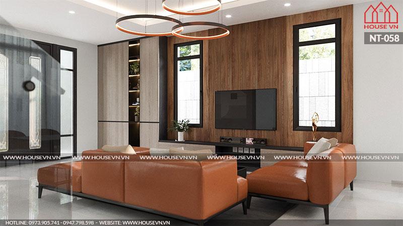 Không gian nội thất phòng khách mang phong cách hiện đại cho biệt thự Vinhomes Imperia tại Hải Phòng