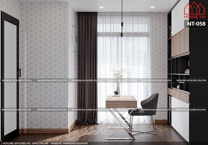 Thiết kế phòng làm việc tận dụng được tối đa ánh sáng tự nhiên