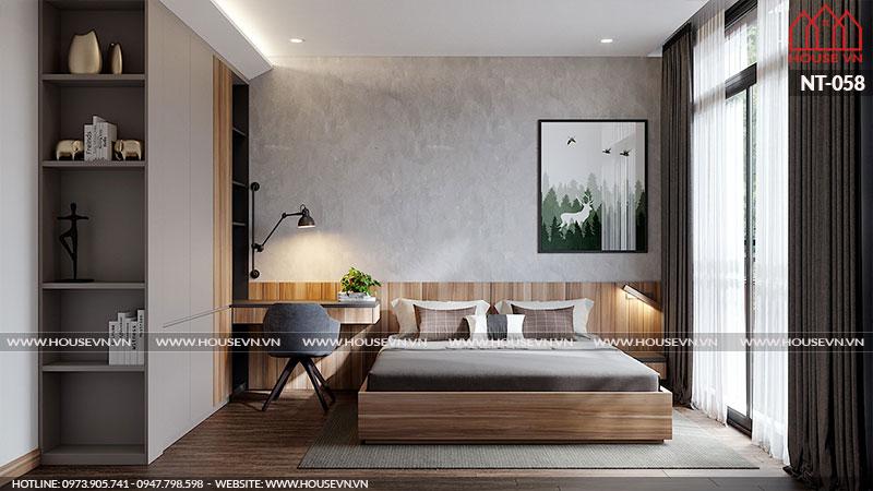 Ấn tượng với mẫu nội thất phòng ngủ biệt thự Vinhomes Imperia thiết kế sang trọng tiện nghi
