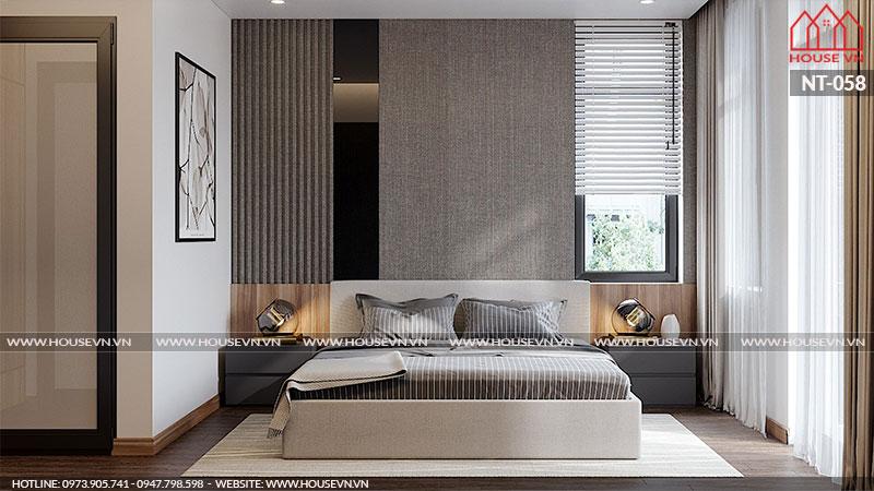 Mỗi không gian sinh hoạt cá nhân của phòng ngủ biệt thự là một ý tưởng bày trí độc đáo, gọn gàng mà ai ngắm nhìn cũng thích thú.