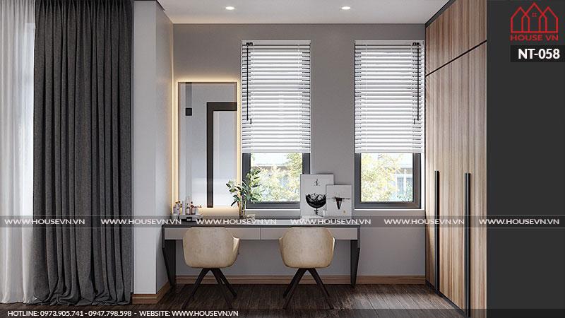 Mẫu nội thất tủ quần áo phong cách hiện đại với công năng tiện ích đầy ấn tượng cho mẫu nội thất phòng ngủ.