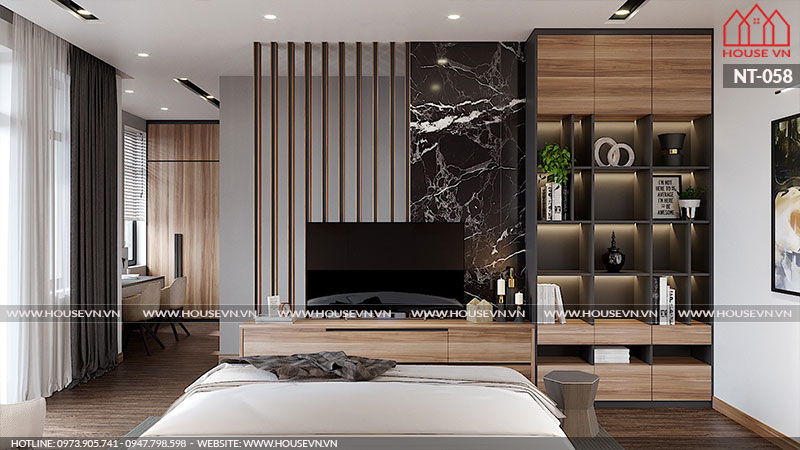 Thiết kế nội thất phòng ngủ Vinhomes Imperia sang trọng phong cách hiện đại